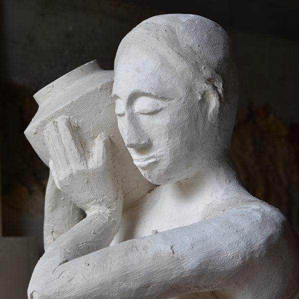 Statue réalisée par Martine, Jean-Claude, Marc et Jacques